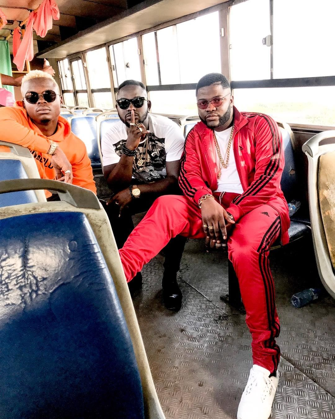 From L to R: Harmonize, omoakin and Skales. photo credit: Instagram/youngskales