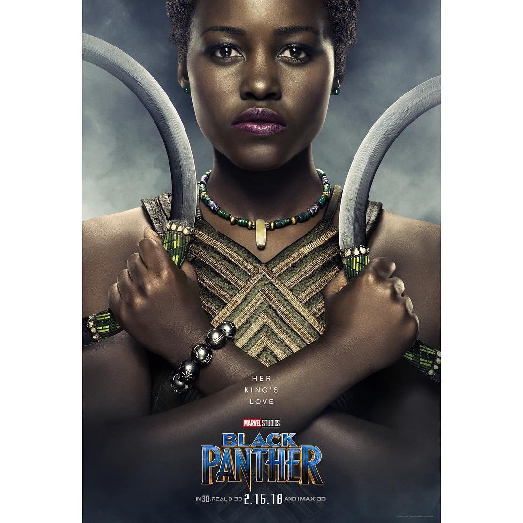 Lupita Nyong'o as Nakia in the upcoming movie Black Panther. photo credit: Instagram/lupitanyongo