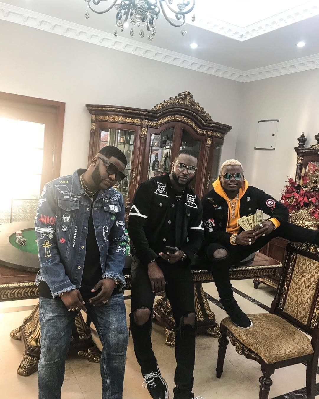 From L to R: Skales, DJ Neptune and Harmonize. photo credit: Instagram/youngskales