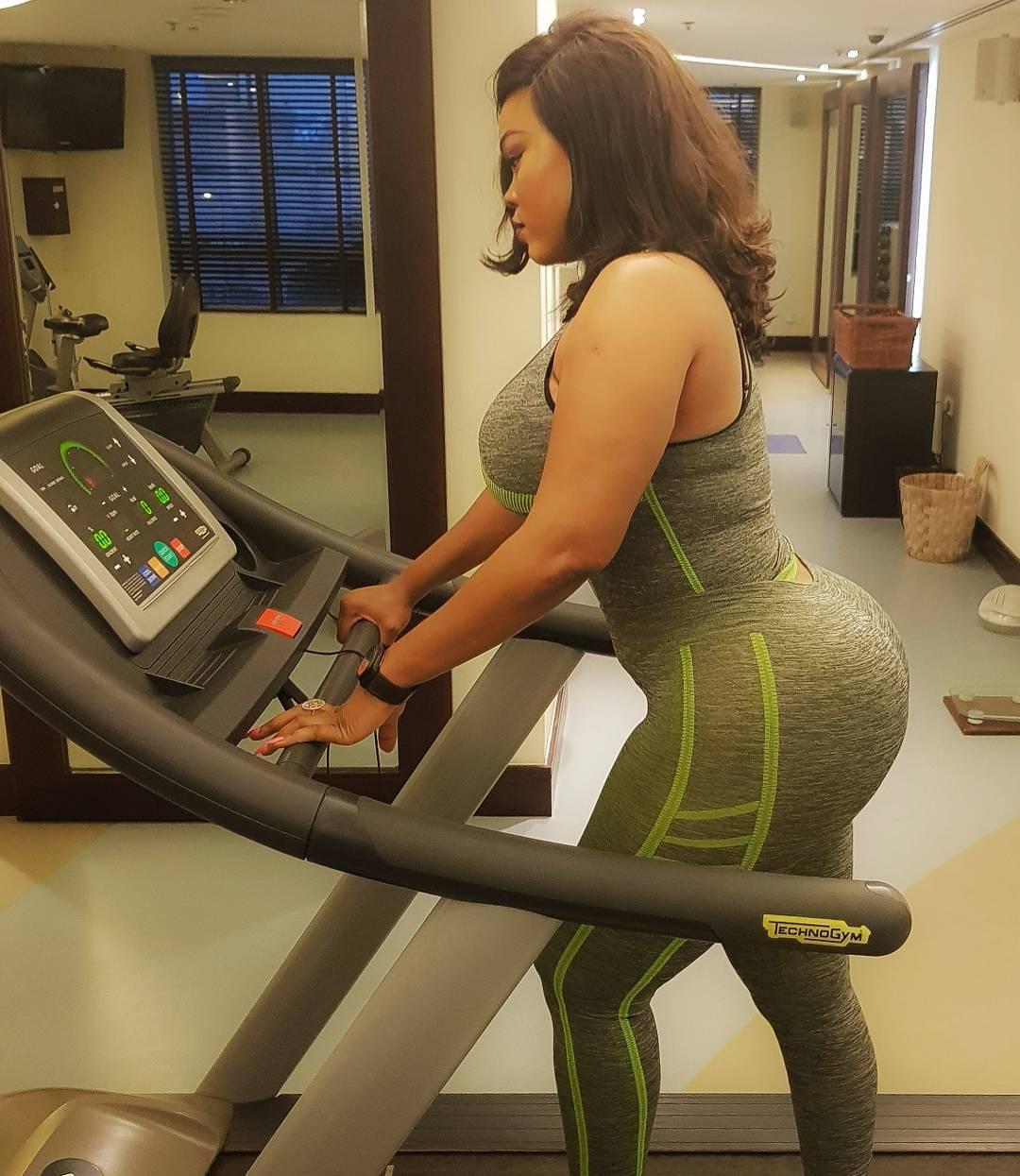 Daniella Okeke in the gym