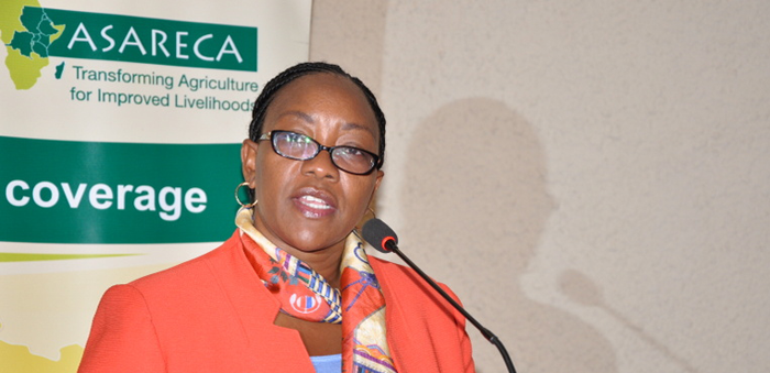 Cecily Kariuki addressing the conference