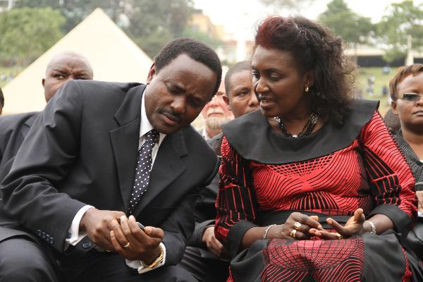 Kalonzo Musyoka with his wife Pauline. Photo/Courtesy