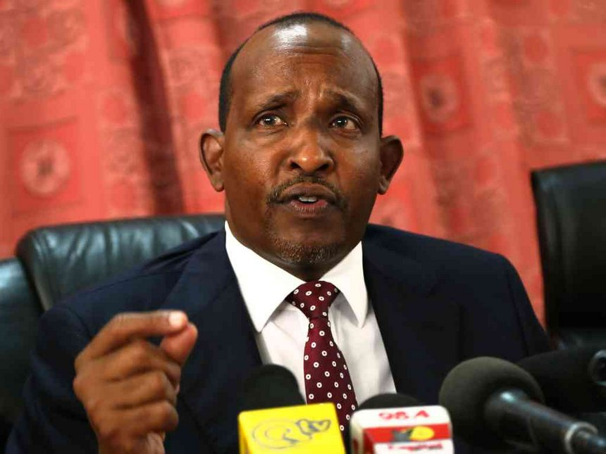 Aden Duale at press conference
