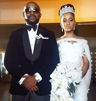 Banky W and his wife during their wedding. Photo/Courtesy