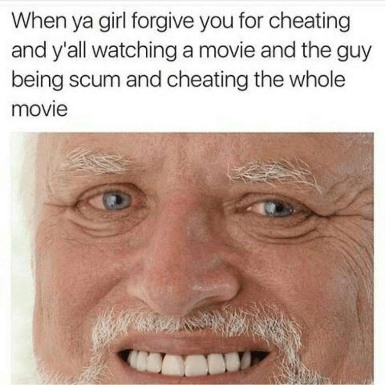 cheating meme