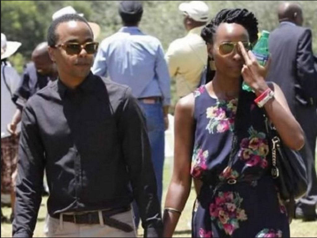 Jomo and Achola  walking together