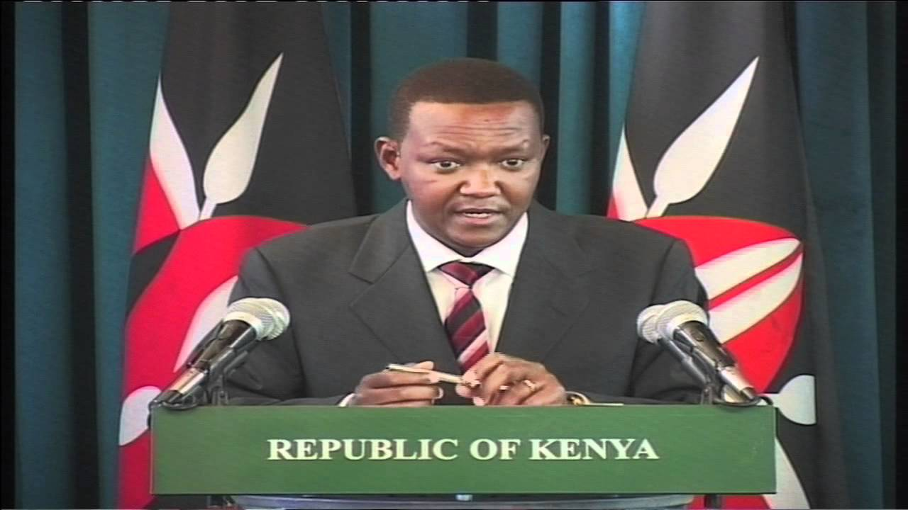 Alfred Mutua when he was the government spokesman in Kibaki's administration.