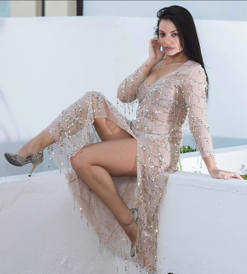 Natacha Rodriguez in dress