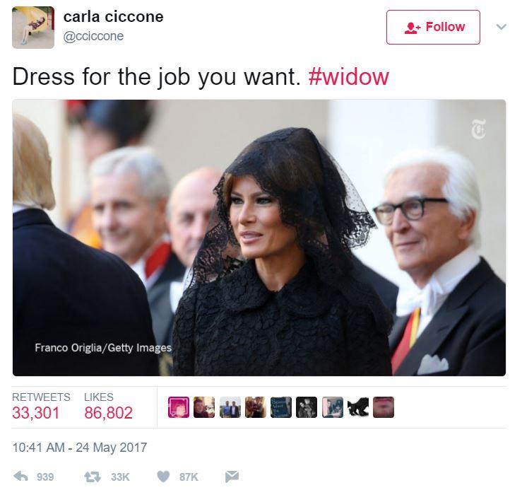 Widow- Merlania Trump