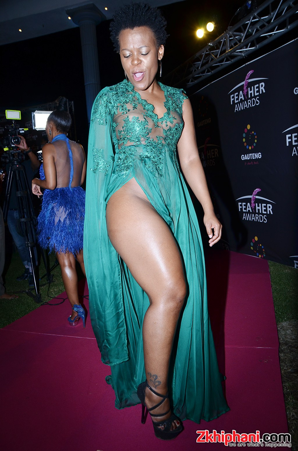 Zodwa Wabantu's entire thighs were conspicuous for anyone who cared to look.photo credit: Zkhiphani.com