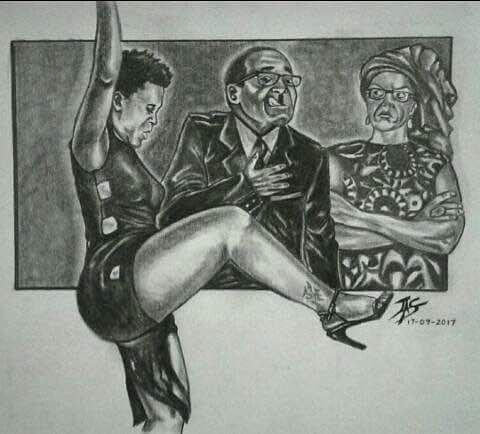 zodwa, robert mugabe and wife