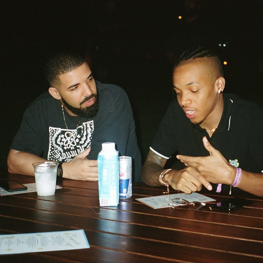Drake and Tekno. photo credit: Instagram/champagnepapi