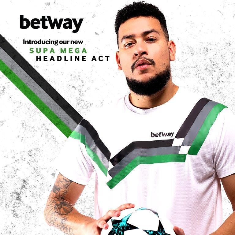 AKA is the official South African betway brand ambassador. photo credit: Instagram/betway_sa