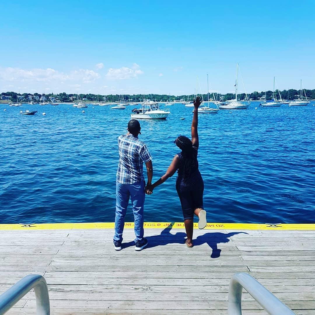 Waihiga Mwaura and his wife, Joyce Omondi enjoying their vacation in USA. photo credit: Instagram/waihigamwaura