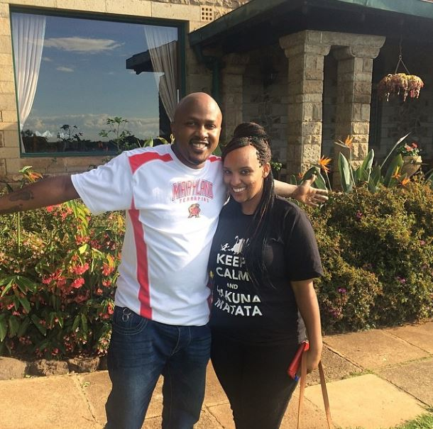 DJ Creme with his wife Denise King'ang'i. Photo/Courtesy