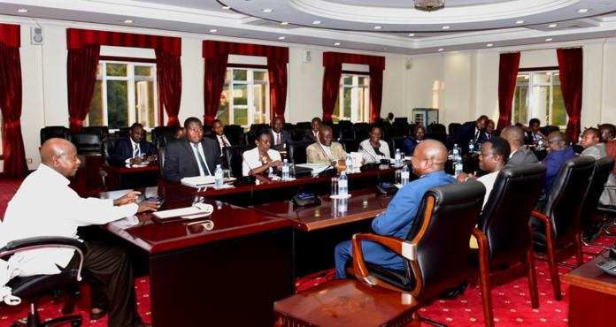 President Museveni addresses Parliament's Legal Committee at State House in Entebbe on Tuesday December 5th. Photo/Courtesy