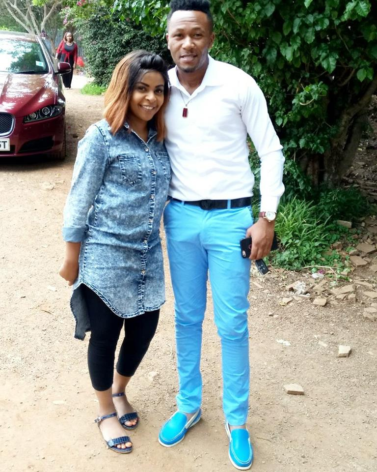 Size 8 and DJ as seen in the photo the gospel singer posted on social media. Photo/Size 8