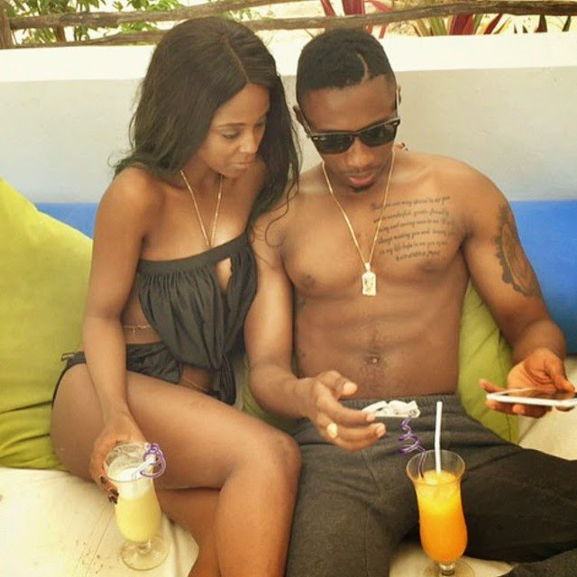 Vanessa Mdee and Jux Jux during happy times. Photo/Courtesy