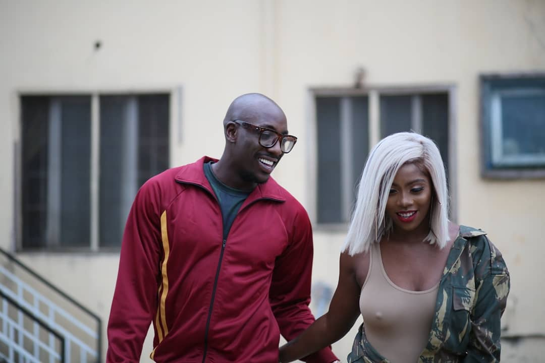 Bien-Aime Baraza and Tiwa Savage. photo credit: Instagram/sautisol