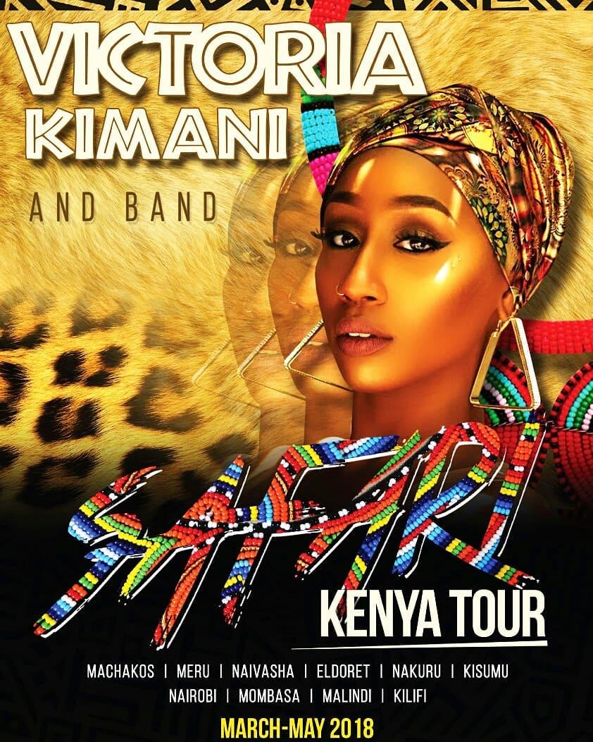 Victoria Kimani 'Safari Kenya Tour' poster. photo credit: Instagram/victoriakimani