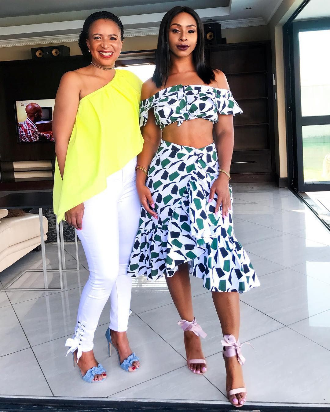 Boity Thulo and her mother slaying together. photo credit: Instagram/boity