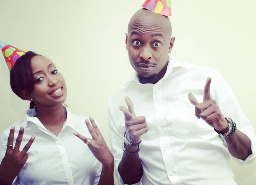 Janet Mbugua and her twin brother Timothy Mbugua celebrate a previous birthday together. Photo/Courtesy