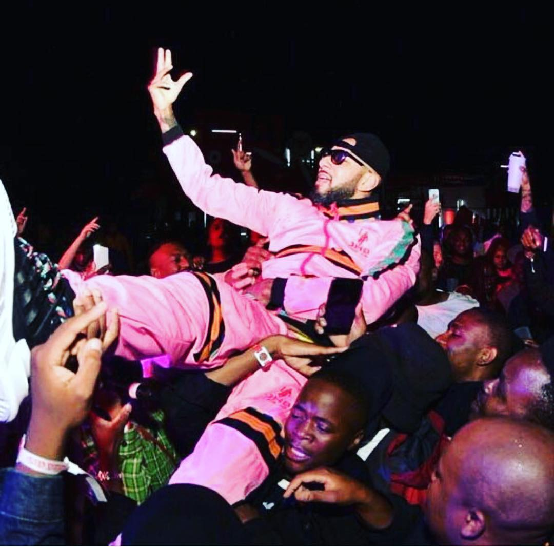 Swizz Beatz performing in South Africa. photo credit: Instagram/therealswizzz